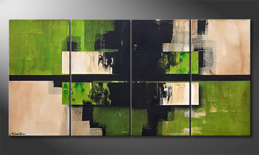 Das moderne Wandbild Dune 160x80x2cm
