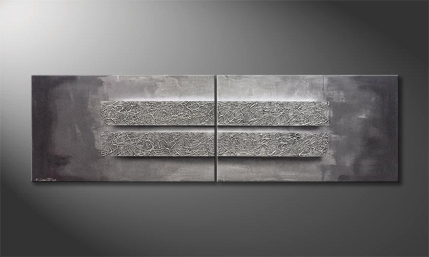 Das moderne Wandbild Energy Blocs 200x60x2cm