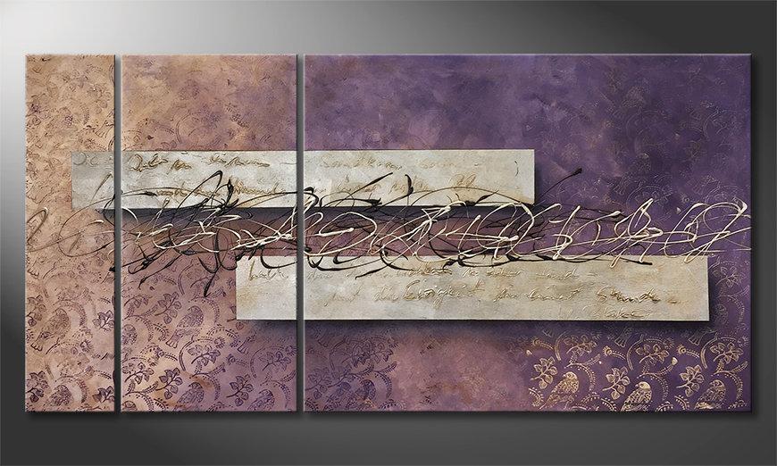 Das moderne Wandbild Ewigkeit 160x80x2cm