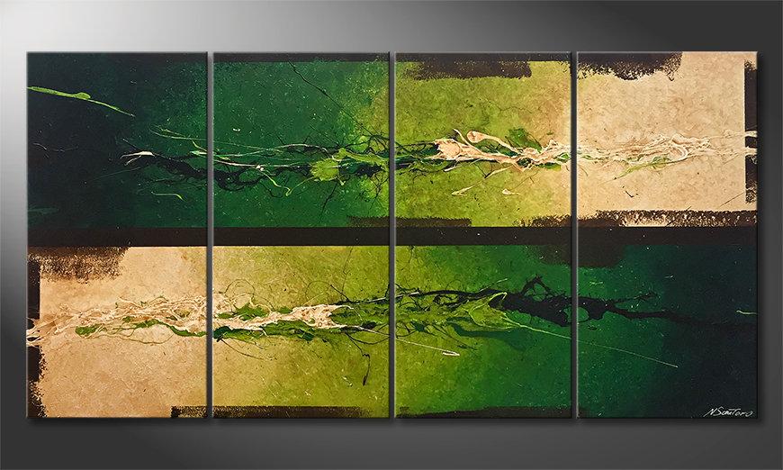 Das moderne Wandbild Fertile Splash 160x80x2cm