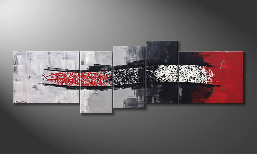 Das moderne Wandbild Flow Of Emotions 210x70cm