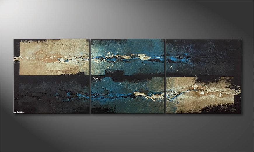 Das moderne Wandbild Frozen Splashes 210x70x2cm