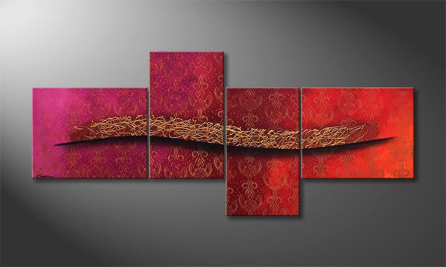 Das moderne Wandbild Golden Times 200x90x2cm