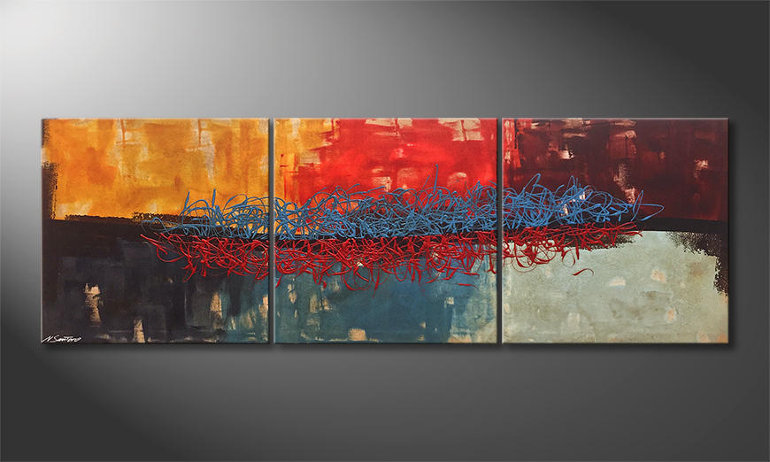 Das moderne Wandbild Hot And Cold 210x70x2cm