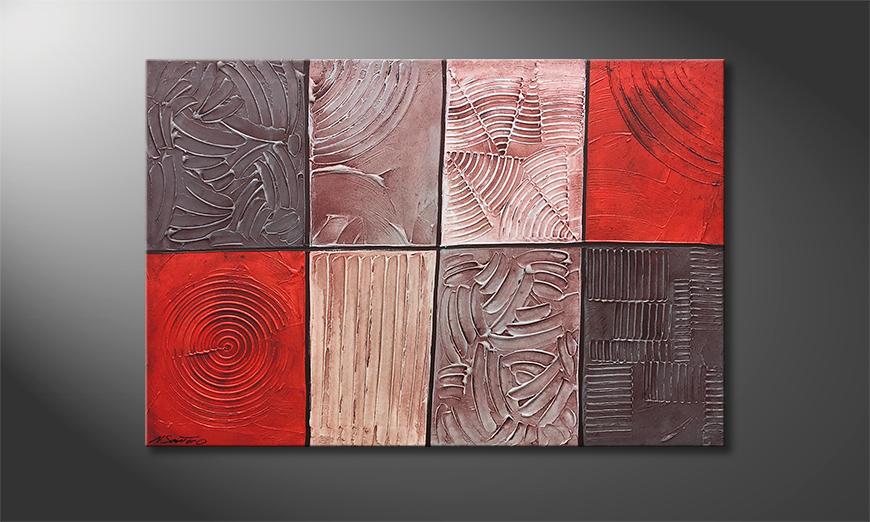 Das moderne Wandbild Hot Spots 120x80x2cm