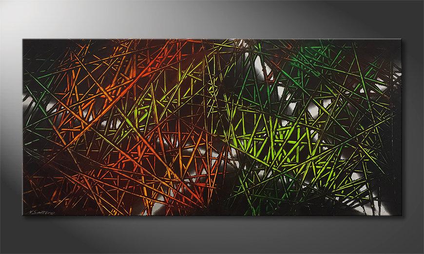 Das moderne Wandbild Jungle Fever 150x70x2cm
