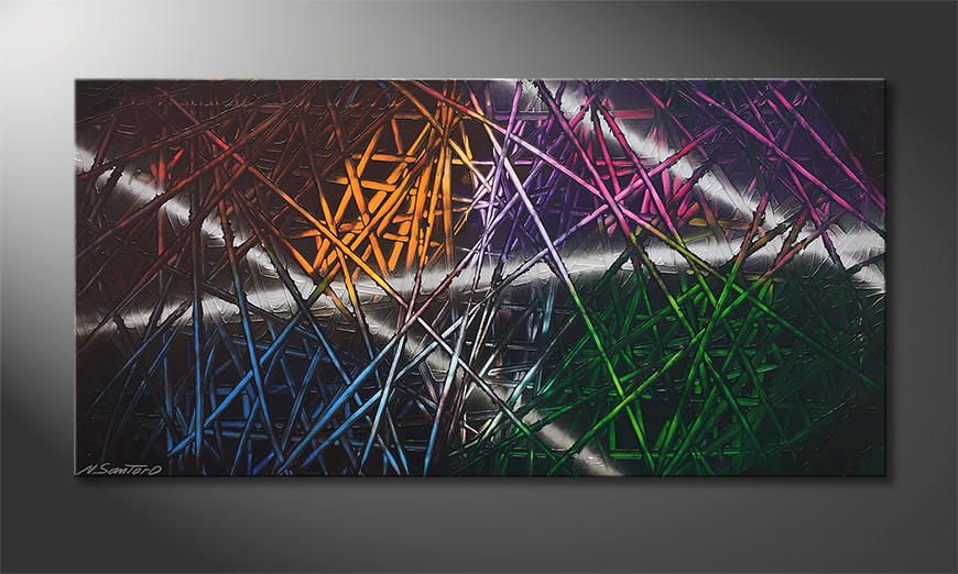 Das moderne Wandbild Light Reflection 120x60cm