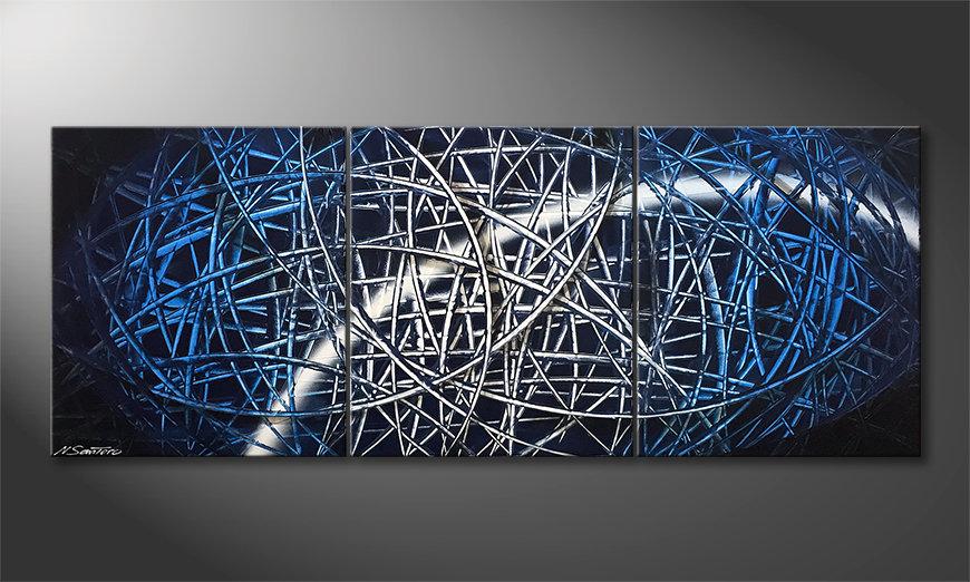 Das moderne Wandbild Light Tail 180x70x2cm