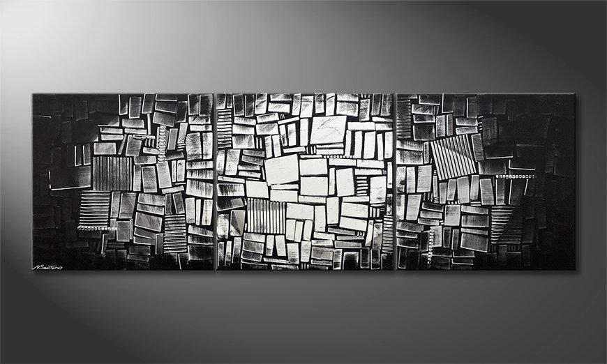Das moderne Wandbild Moon Dices 240x80x2cm