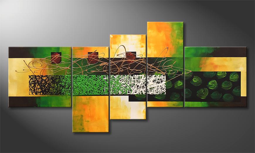 Das moderne Wandbild Mystic Garden 190x90x2cm