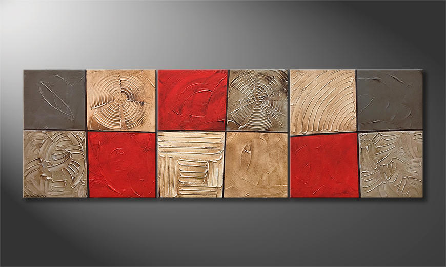 Das moderne Wandbild Red Desert 210x70x2cm