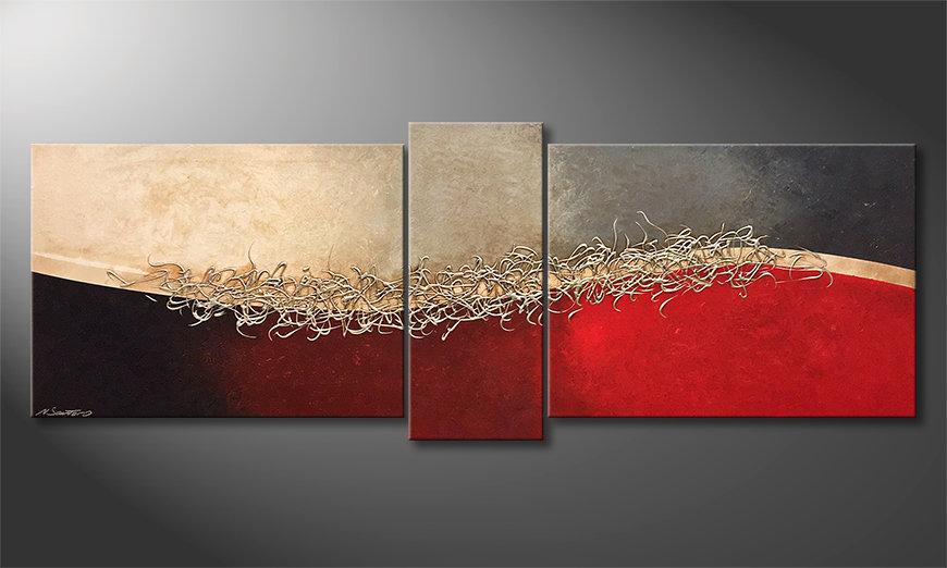 Das moderne Wandbild Silver Growth 190x70x2cm