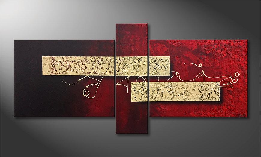 Das moderne Wandbild Sound Of Silence 210x100x2cm