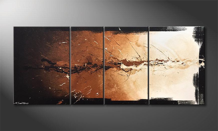 Das moderne Wandbild Splash Of Earth 170x70x2cm