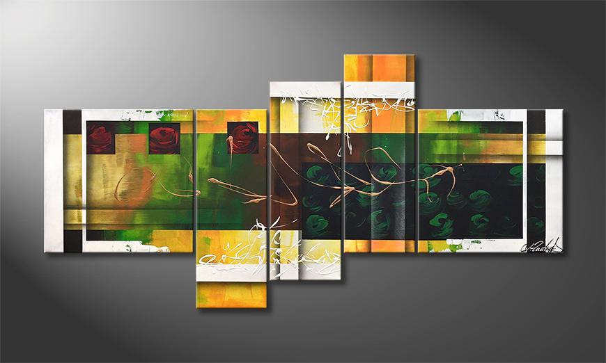 Das moderne Wandbild Summer Feeling 140x70x2cm