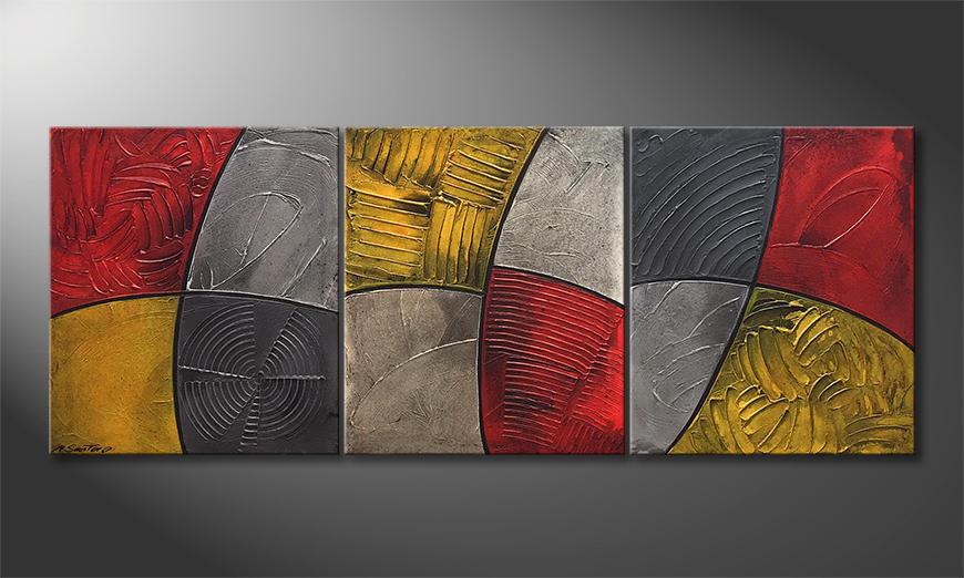 Das moderne Wandbild Summer Heat 180x70x2cm