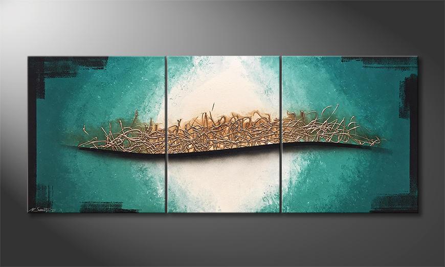 Das moderne Wandbild Underwater Melody 170x70x2cm