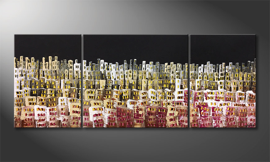 Das moderne Wandbild Urban Desert 180x70x2cm
