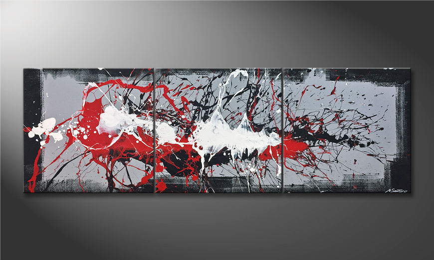 Das moderne Wandbild Vibrations 210x70x2cm
