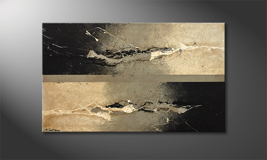 Das moderne Wandbild Warmth Contrast 100x60x2cm