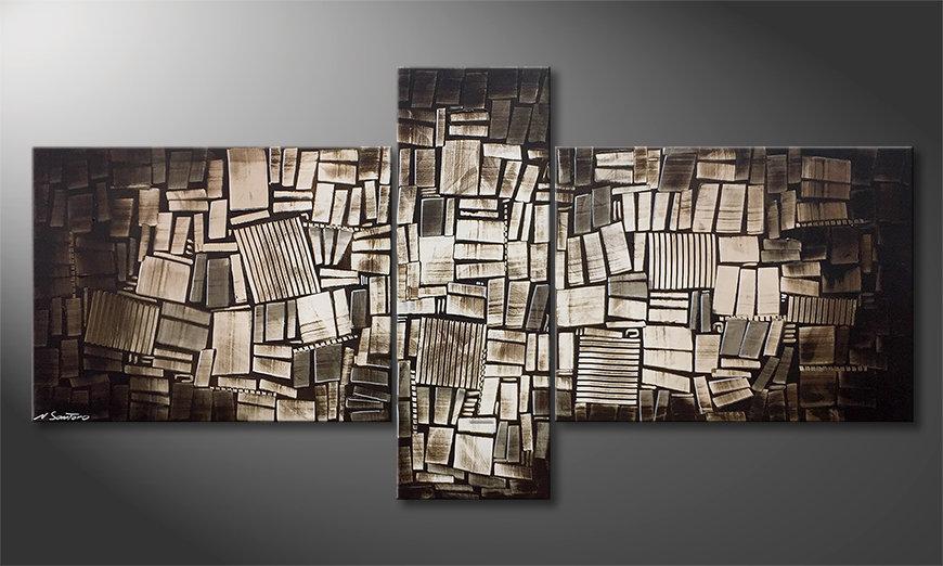 Das moderne Wandbild Wooden Light 220x110x2cm