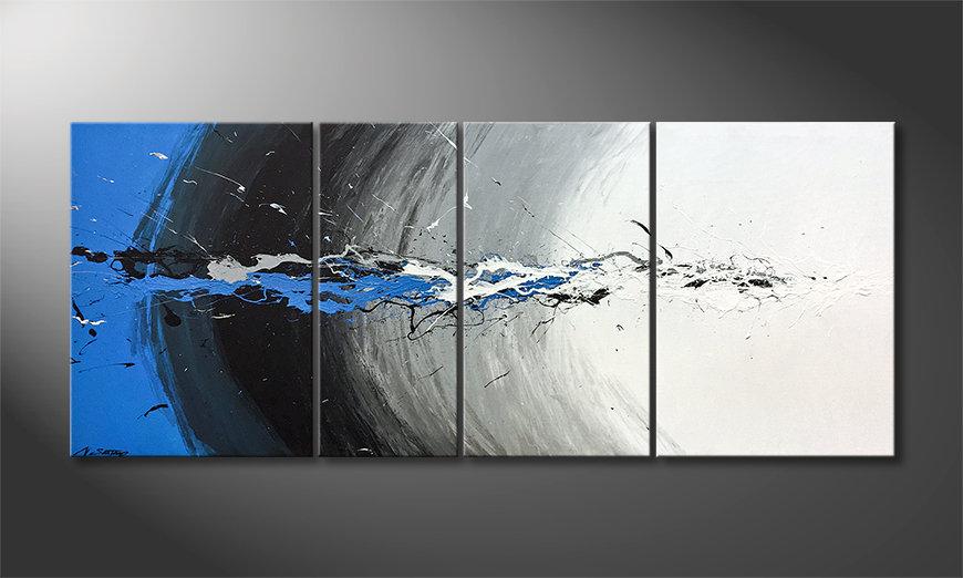Das schöne Bild Blue Light Splash 170x70x2cm