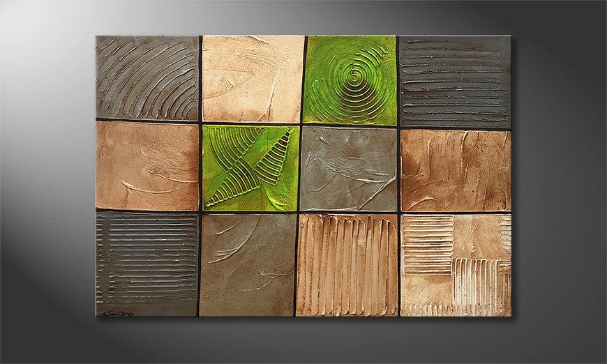 Das schöne Bild Earth Pieces 120x80x2cm