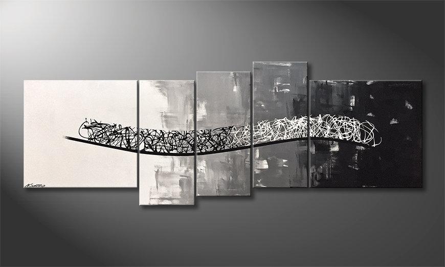Das schöne Bild Flowing Contrast 210x80x2cm