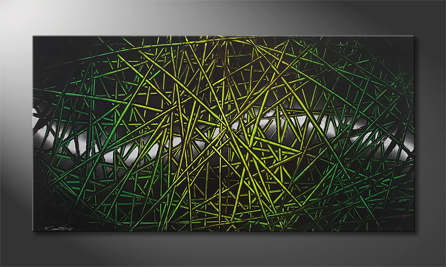 Das schöne Bild Green Rumble 140x70x2cm