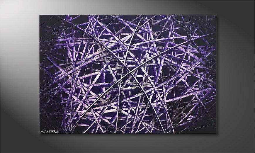 Das schöne Bild Purple Lines 120x80x2cm