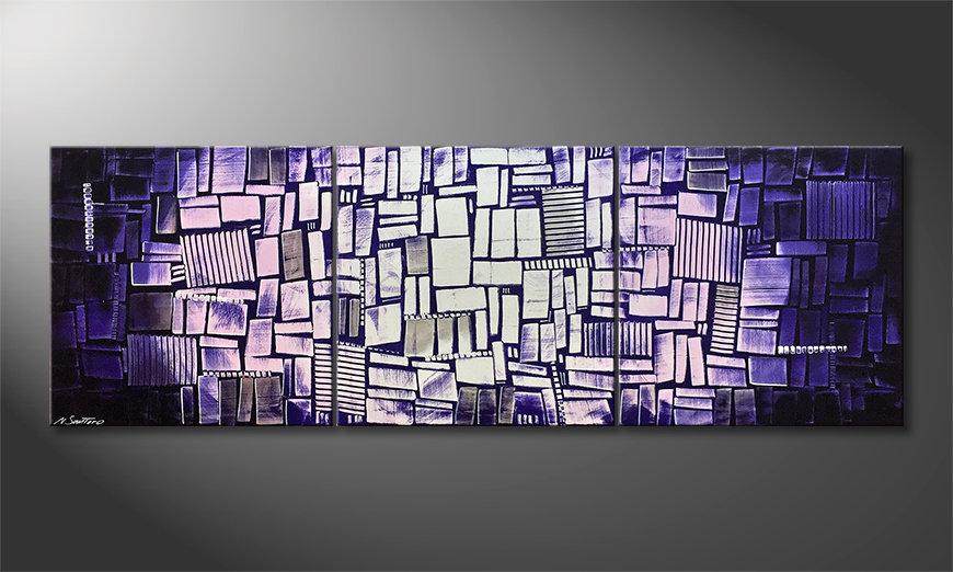 Das schöne Bild Purple Moon 210x70x2cm