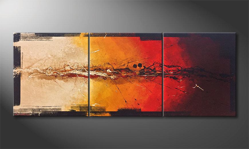 Das schöne Bild Set On Fire 180x70x2cm