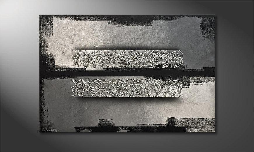 Das schöne Bild Silver Twins 120x80x2cm