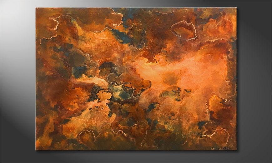 Handgefertigt: Rusty Clouds 140x100x2cm