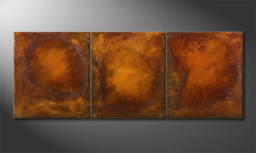 Handgefertigt: Triple Rost 180x70x2cm