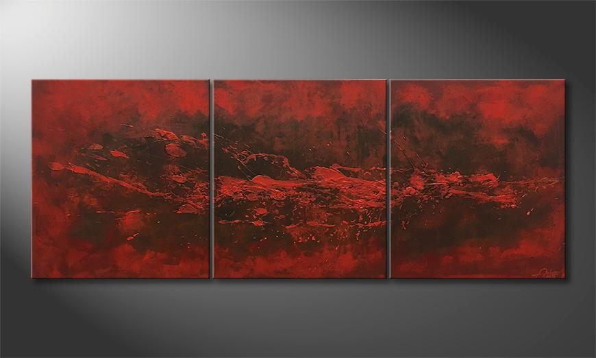 Handgemalt: Heaven and Hell 210x80x2cm
