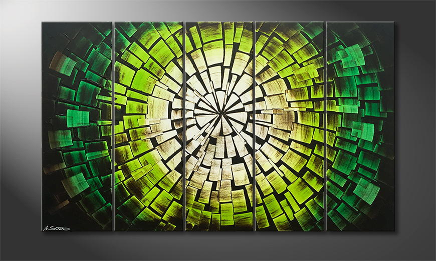 Handgemalt: Jungle Sun 150x90x2cm