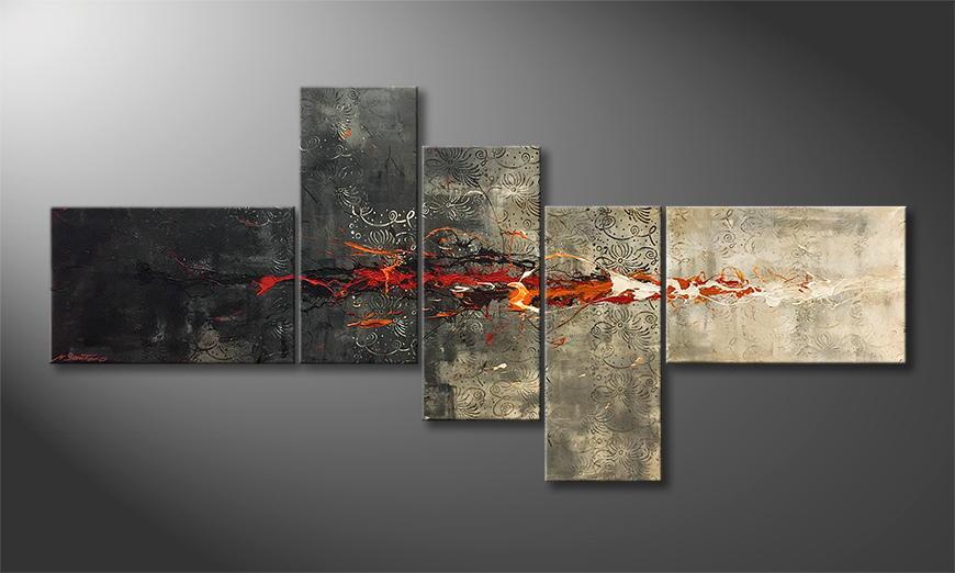 Handgemalt: Lost Fire 210x100x2cm