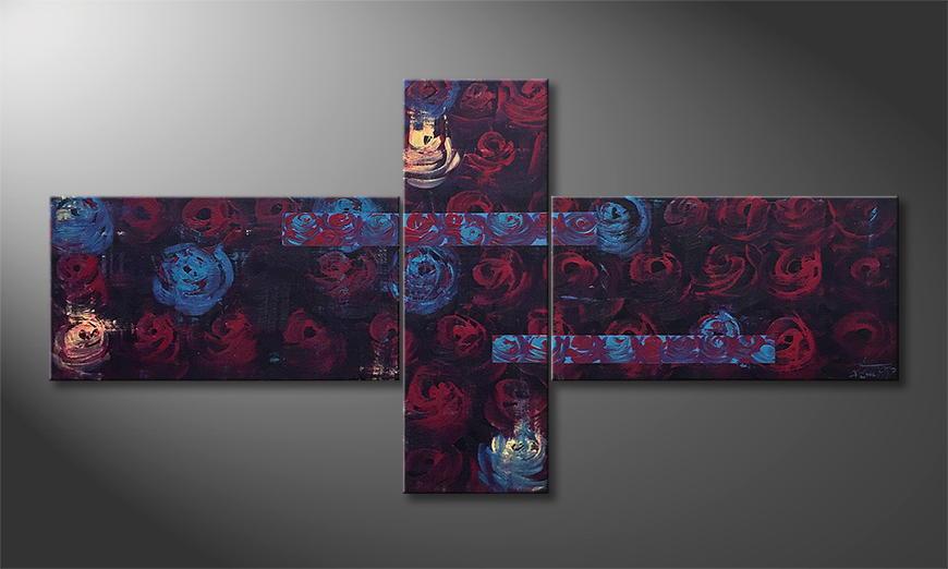 Handgemalt: Night Of Roses 170x90x2cm