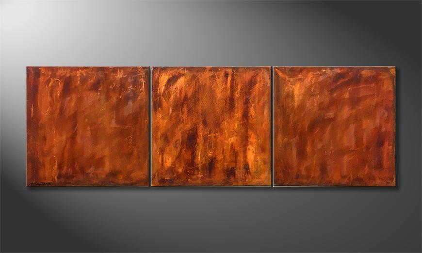 Handgemalt: Rusty 210x70x2cm