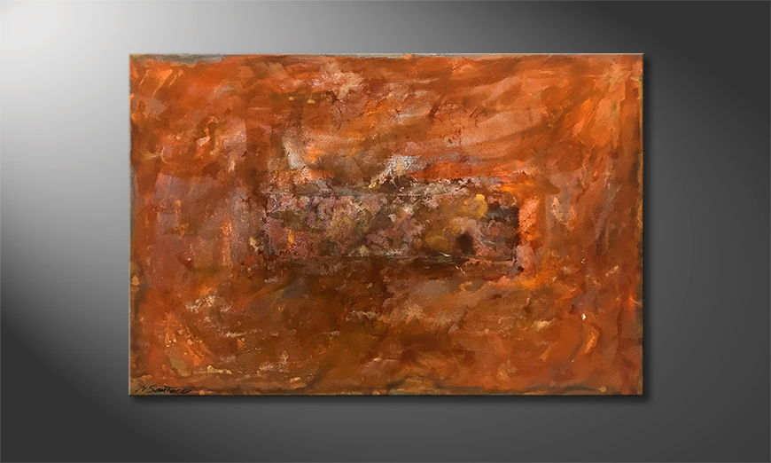 Handgemaltes Bild: Rusty Artifact 120x80x2cm