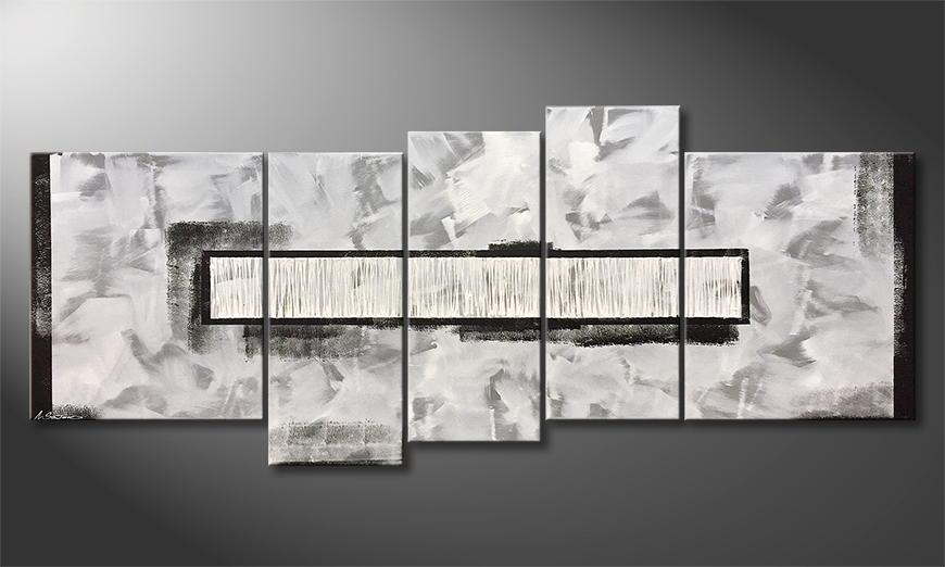Handgemaltes Bild: White Rain 190x80x2cm