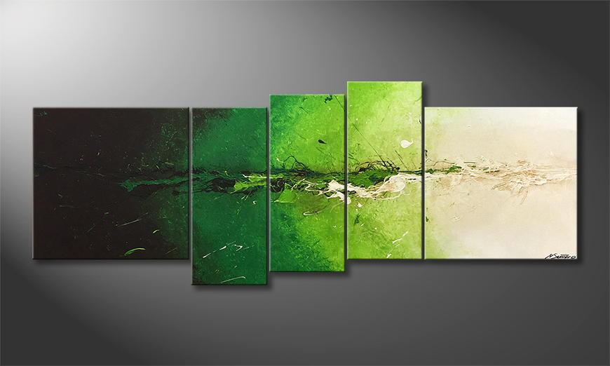Original Handgemalt: Powerful Green 210x80x2cm