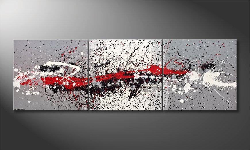 Unser Wandbild Battle of Contrasts 210x70x2cm