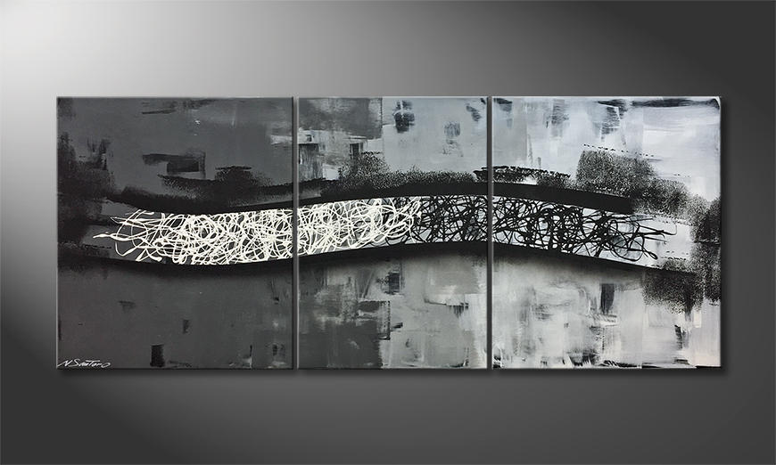 Unser Wandbild Between Contrasts 170x70x2cm