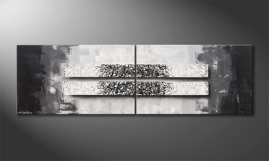 Unser Wandbild Black White 200x60x2cm