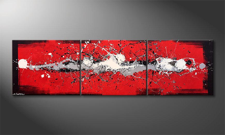 Unser Wandbild Cooled Emotions 210x60x2cm