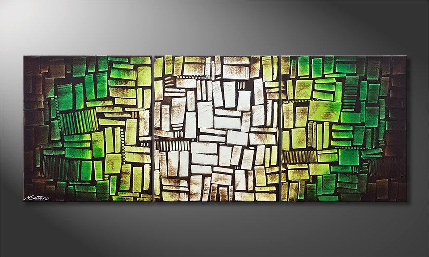 Unser Wandbild Cubes Of Hope 180x70x2cm