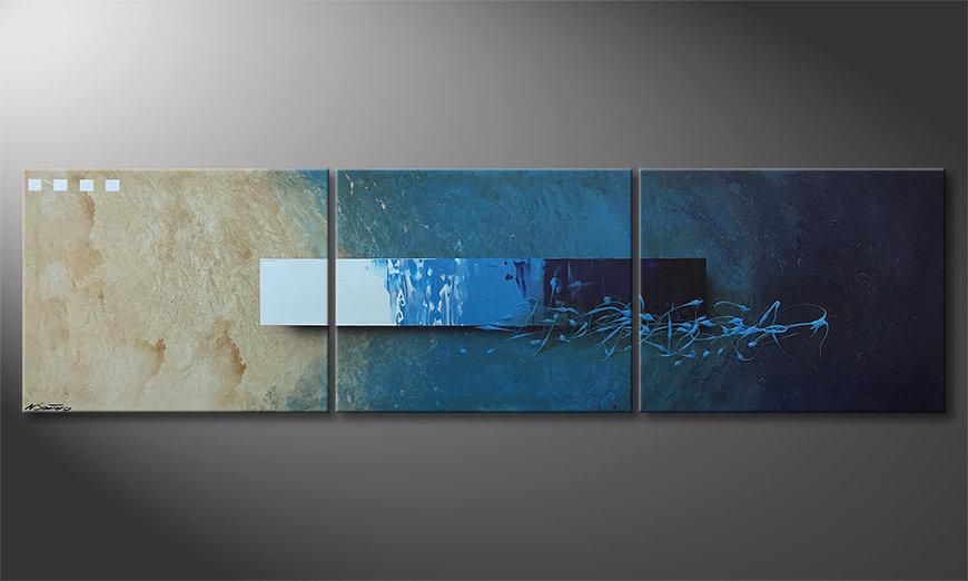 Unser Wandbild Deep Water Signs 225x60x2cm