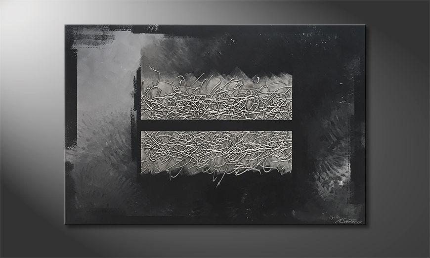 Unser Wandbild Dissected Silver 120x80x2cm